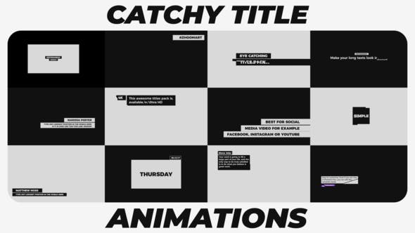 Thumbnail for Catchy Title Animations