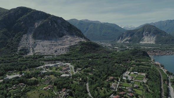Thumbnail for Italian Riviera Houses Drone Flight Near the Mountains, Italy Lake, Drone  Nature Flight Hootel