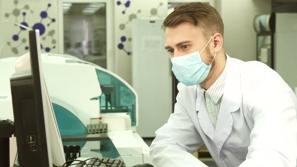 Thumbnail for An Enthusiastic Laboratory Worker Examines the Results of Tests on the Computer