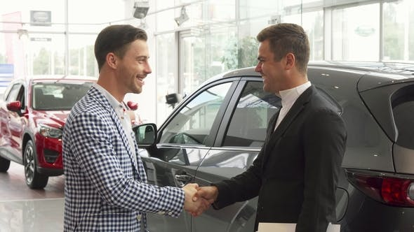Thumbnail for Men Have Concluded a Good Deal of Buying a Car