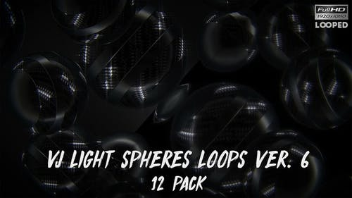 VJ Light Spheres Loops Ver.6 - 12er Pack