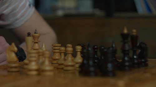 White Rook Capturing Black Rook in Chess Game