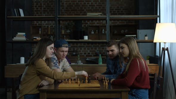 Thumbnail for Joyful Girl Defeating Her Friend in Chess Game