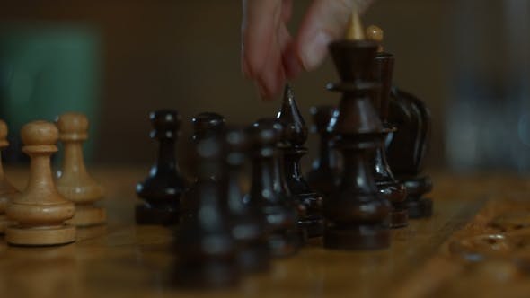 Thumbnail for Female Hand Playing Chess Game and Making a Move