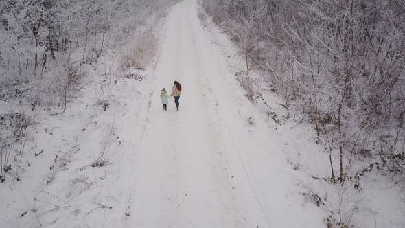 Thumbnail for Mom and Daughter Are Walking