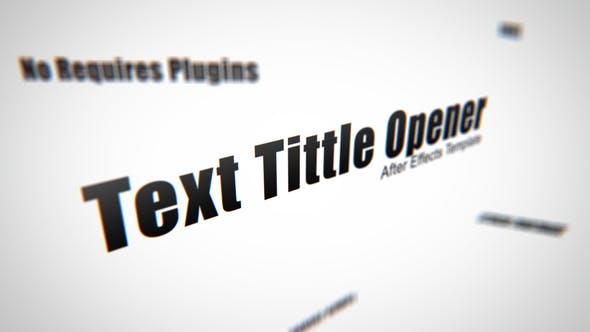 Thumbnail for Text Tittle Opener