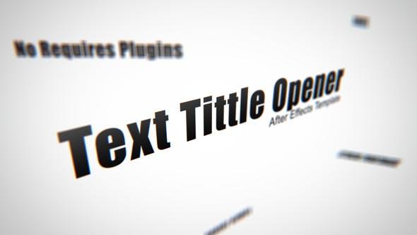 Text Tittle Opener