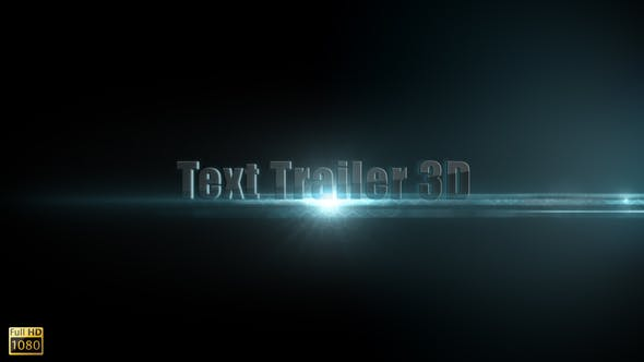 Thumbnail for Text Trailer 3D