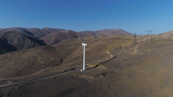 Thumbnail for Green Energy Windmill Turbine Rotating at Farm