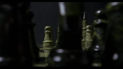 Chess , Wooden Chess Board, Business Concept, Black Background. Slide. Chess Pieces On Chessboard
