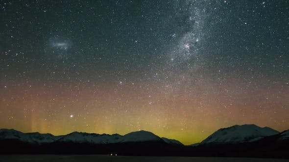 Thumbnail for View of Beautiful Northern Lights (Aurora Borealis) and Night Sky Above Northern Lake, Static