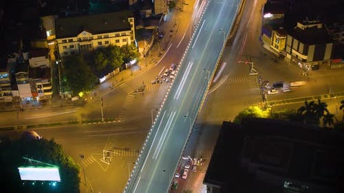 Chaotic Intersection In Hanoi Vietnam Time Lapse