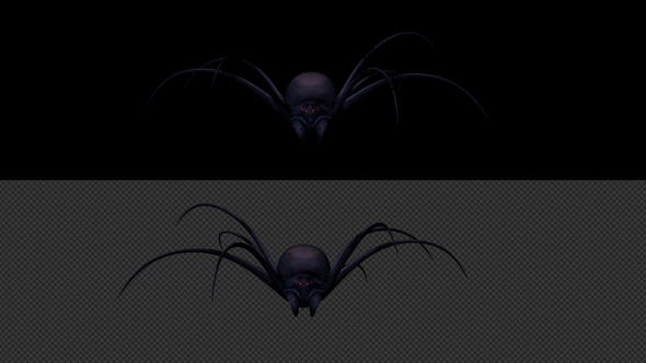 Thumbnail for Black Widow Walk Animation