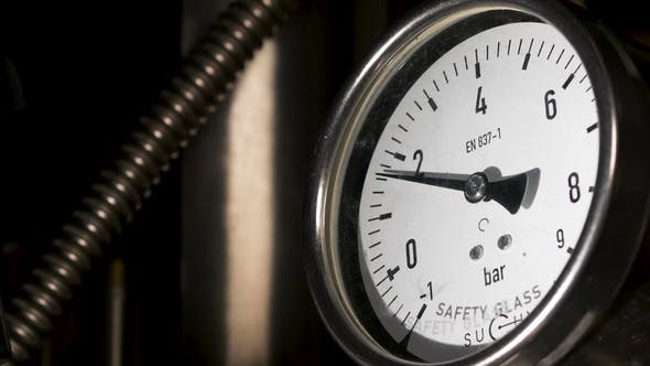 Thumbnail for Old Vintage Barometer with Based. Manometer Precise Instrument in Laboratory Industrial Barometer