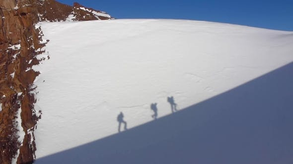 Thumbnail for Silhouettes of Hikers with Backpacks