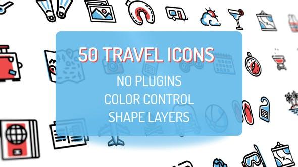 Travel Holiday Flat Icons