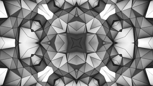 Monochrome Geometric Kaleidoscope