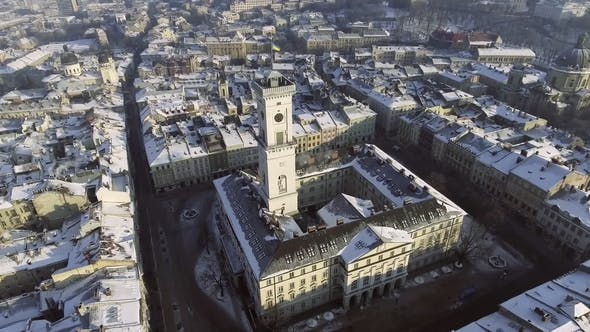 Thumbnail for Day Aerial Shot of Central Part of Lviv City