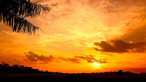 Tropical Red Filtered Sunset