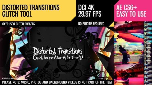 Thumbnail for Distorted Transitions (Glitch Tool)