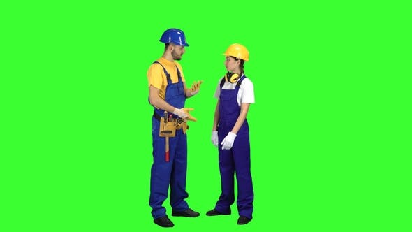 Thumbnail for Builder Guy Talk with a Girl About Building a House