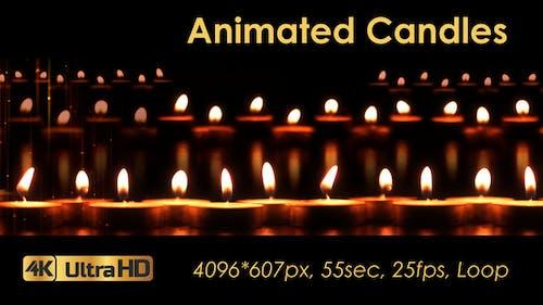 Animierte Kerzen