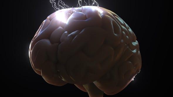 Thumbnail for Funken über menschliches Gehirn