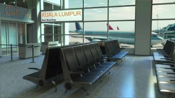 Thumbnail for Kuala Lumpur Flight Boarding in the Airport Travelling To Malaysia