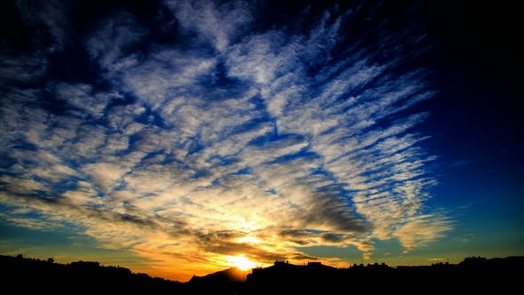 Awesome Colorful Clouds at Sunset