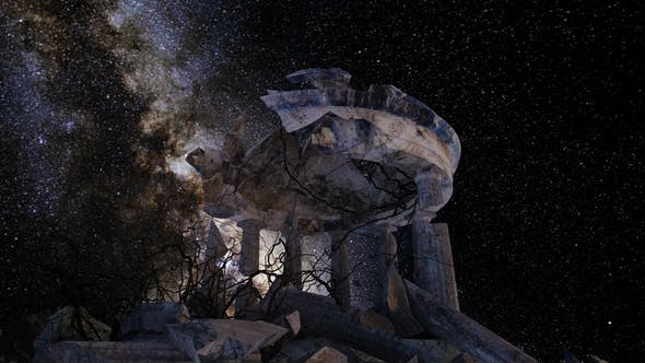 Thumbnail for Milkyway Timelapse Ruined Monument