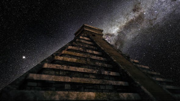 Thumbnail for 4K Milkyway Timelapse Chichen Itza Stairs