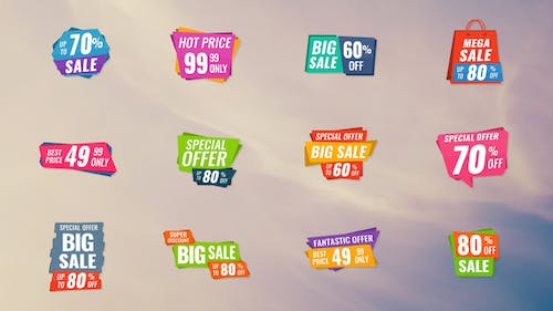 12 Sale Banners