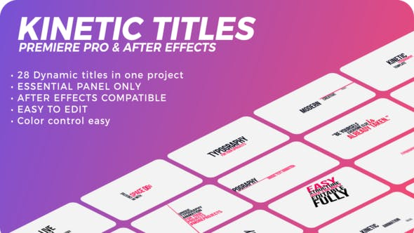 Kinetic Titles | Duration Control in Premiere Pro