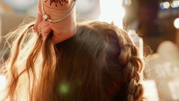 Thumbnail for Female Model Getting Her Hair Dressed