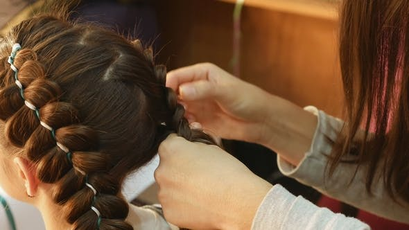 Thumbnail for Female Model Getting Her Hair Dressed
