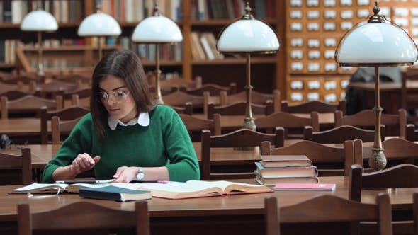 Thumbnail for Student Girl in Library