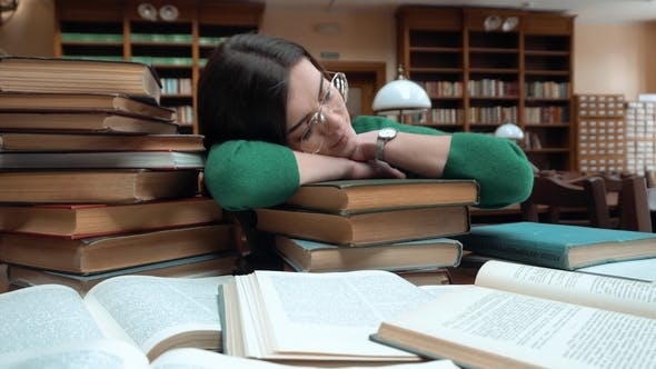 Student Fell Asleep in Library