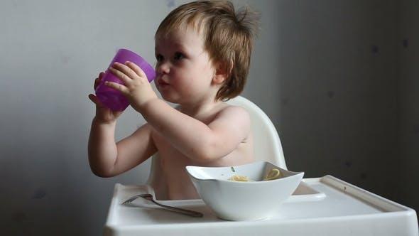 Thumbnail for Toddler Boy Drinking Water
