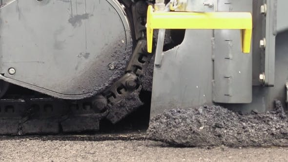 Thumbnail for Road Construction Applying New Hot Asphalt