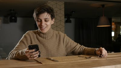 Woman Is Waiting for Waiter