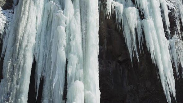 Thumbnail for Frozen Beautiful Waterfall in Winter