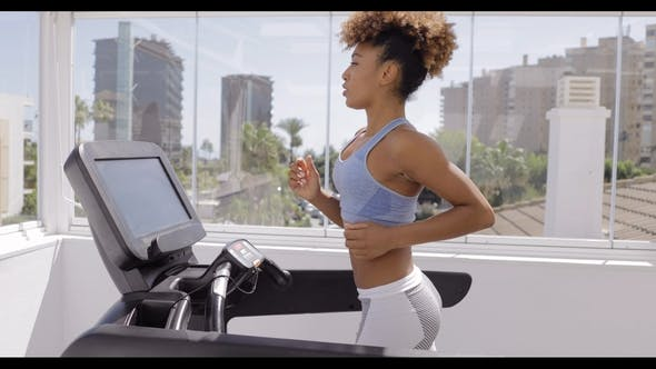 Thumbnail for Confident Woman Training in Gym