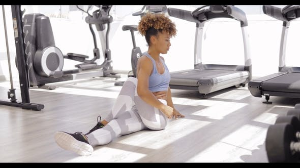 Thumbnail for Girl Practicing Yoga in Gym