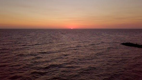 Thumbnail for Landscape of Sun Rising Above Ocean
