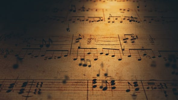 Thumbnail for Atmospheric Music Background with Notes on Old Brown Paper