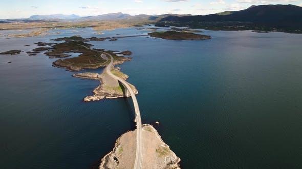Cover Image for Atlantic Ocean Road Aerial Footage Norway