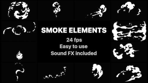 Éléments de fumée dessinés à la main