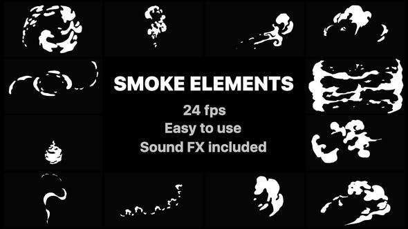 Hand Drawn Smoke Elements