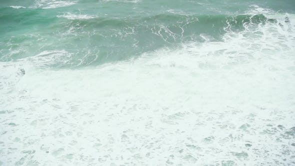 Thumbnail for a Large Foamy Wave in the Sea