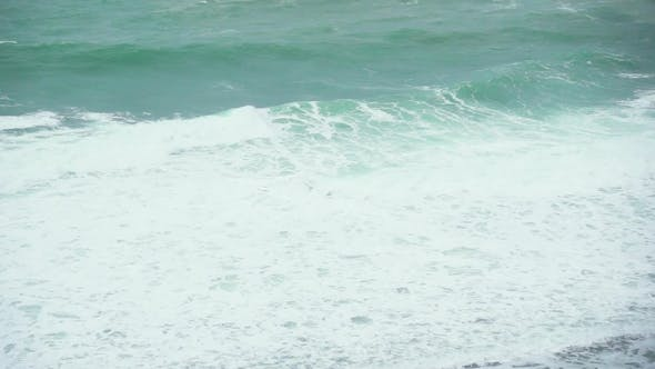 Thumbnail for Large Foam Waves in the Ocean Near the Shore